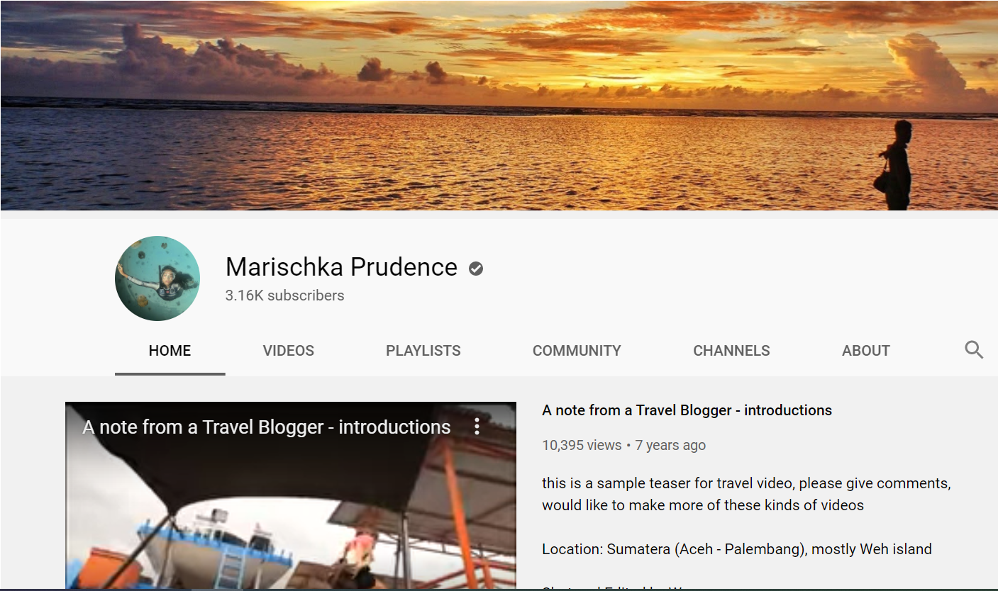 marischka prudence youtuber travelling